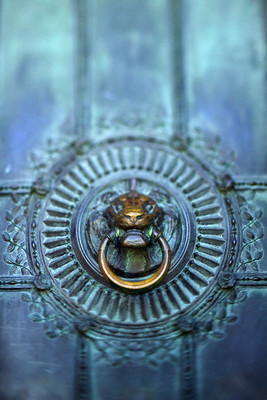 Paris, France --- Ornamental Doorknocker --- Image by © Ocean/Corbis